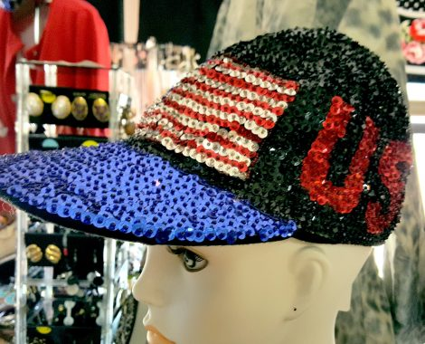 flag sequin cap